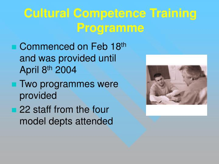 Cultural Competence Training Programme
