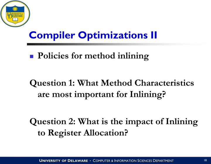 Compiler Optimizations II