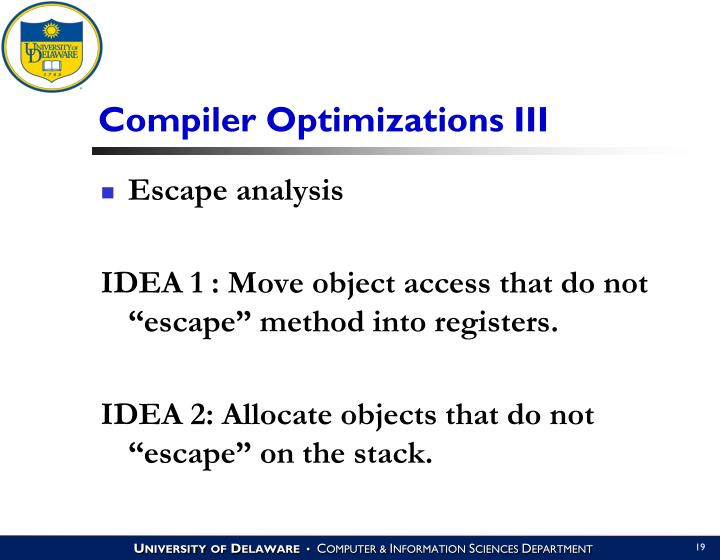 Compiler Optimizations III