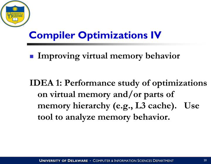 Compiler Optimizations IV