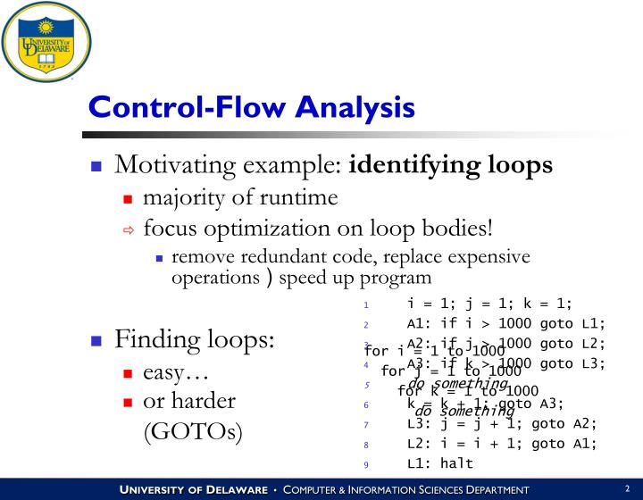 Control flow analysis