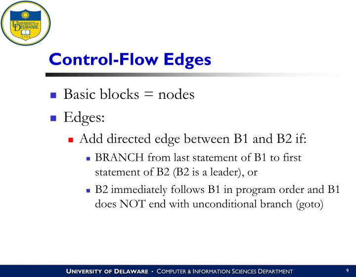 Control-Flow Edges