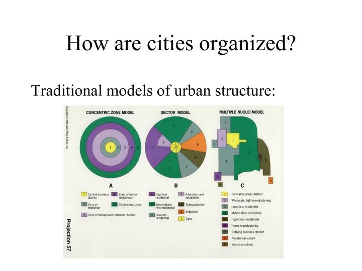 How are cities organized?