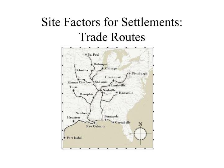 Site Factors for Settlements: