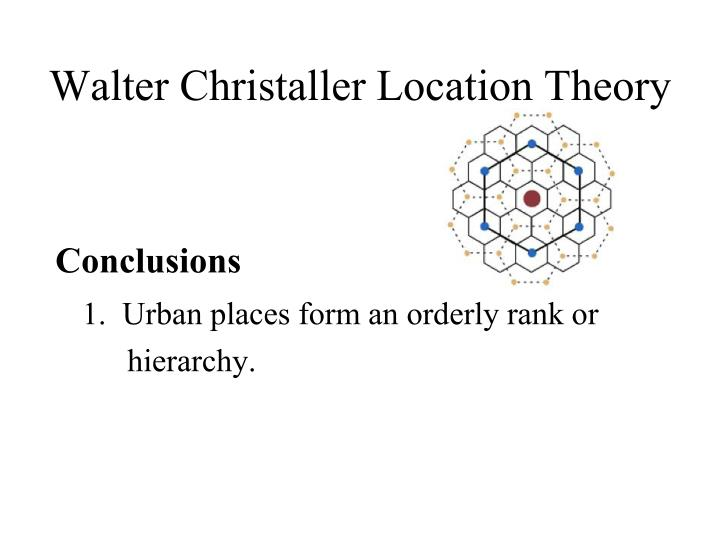 Walter Christaller Location Theory