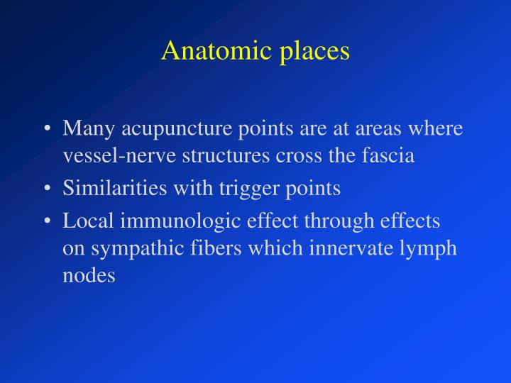 Anatomic places