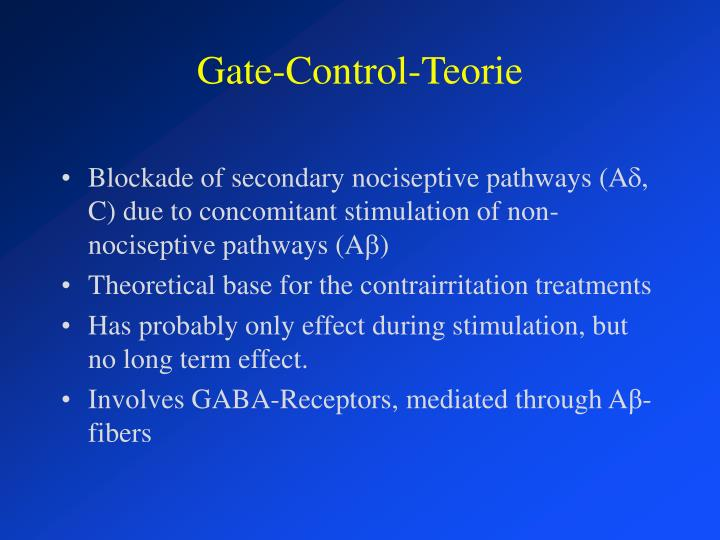 Gate-Control-Teorie