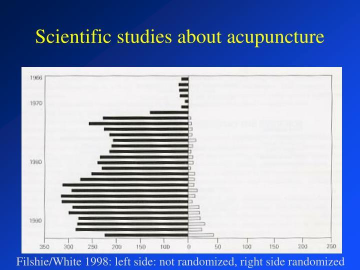 Scientific studies about acupuncture