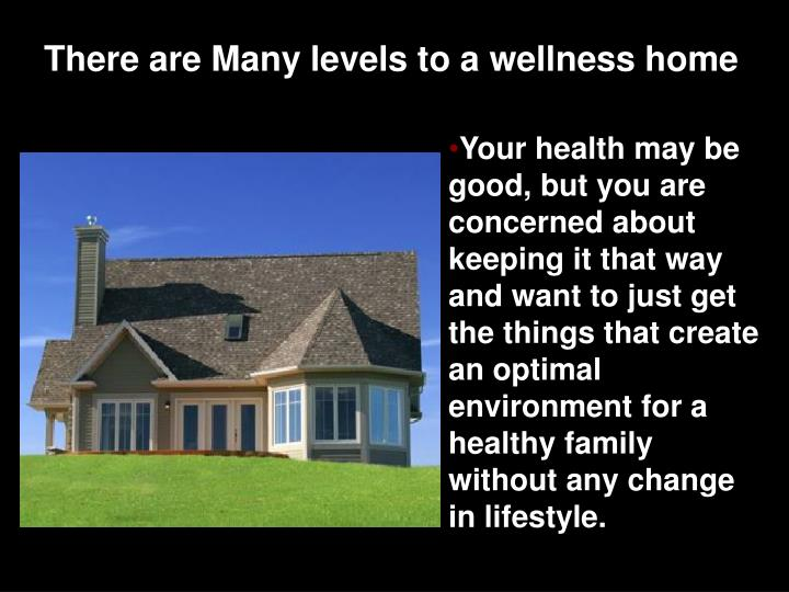 There are Many levels to a wellness home