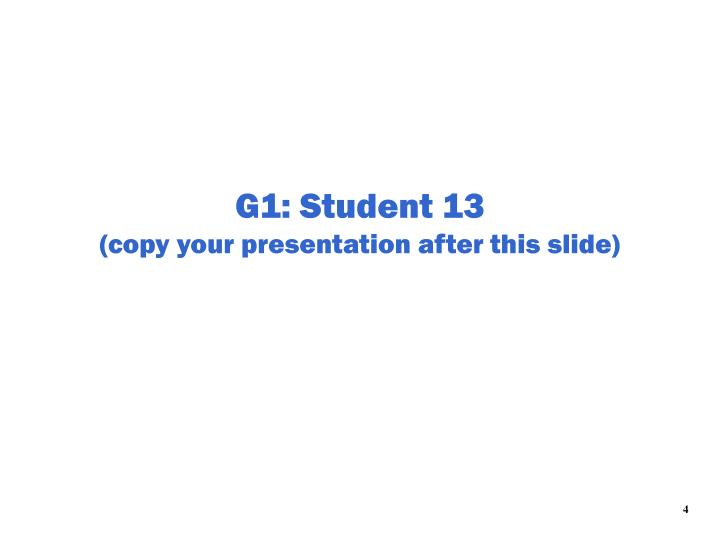 G1: Student 13