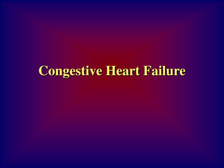congestive heart failure essay