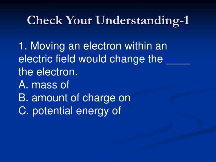 Check Your Understanding-1
