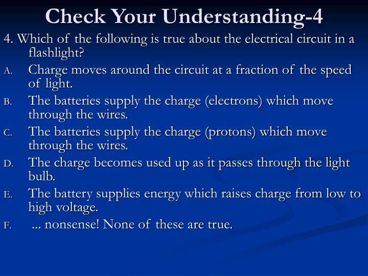 Check Your Understanding-4