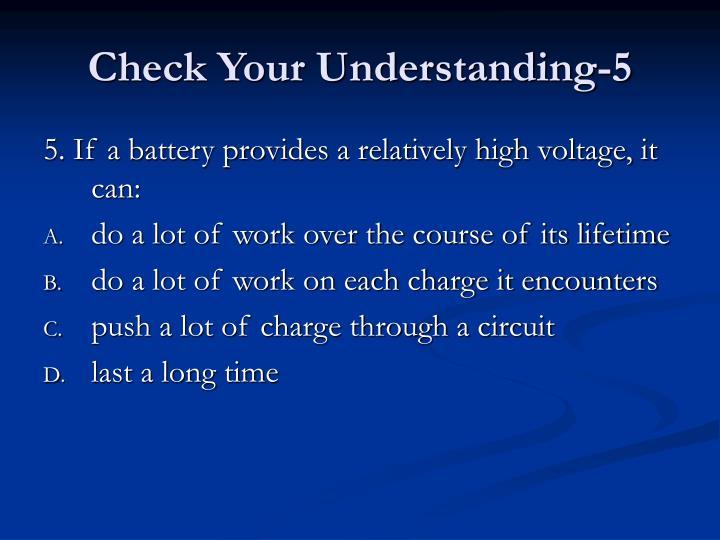 Check Your Understanding-5