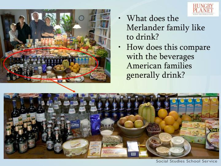 How does this compare with the beverages American families generally drink?