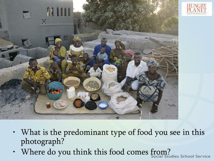 What is the predominant type of food you see in this photograph?