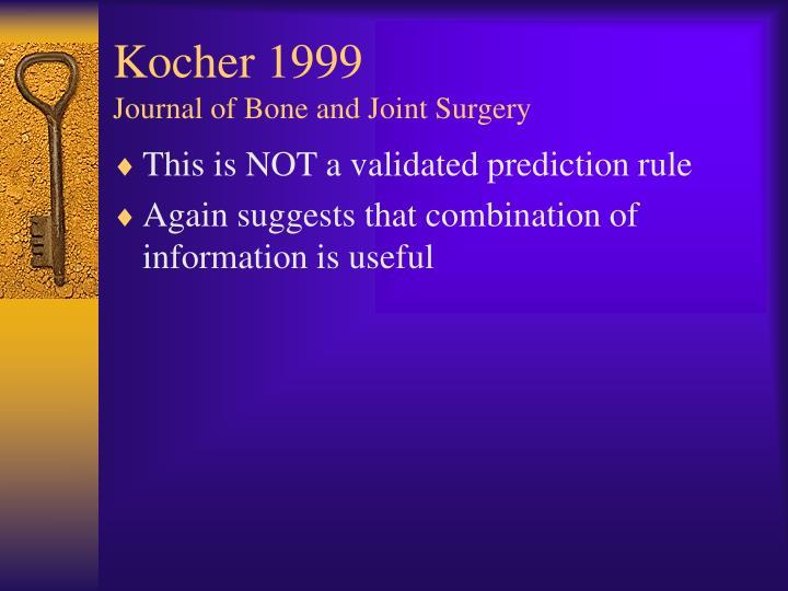 Kocher 1999