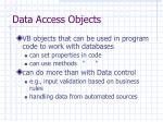 data access objects