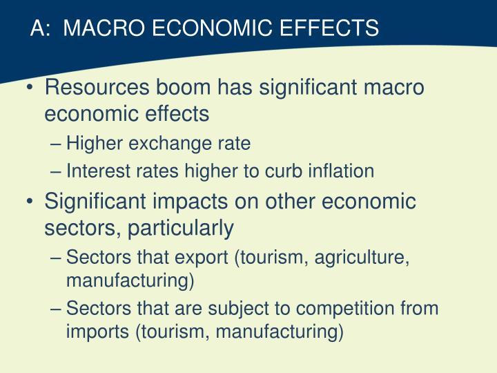 A:  MACRO ECONOMIC EFFECTS