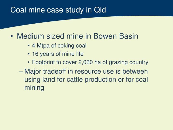 Coal mine case study in Qld