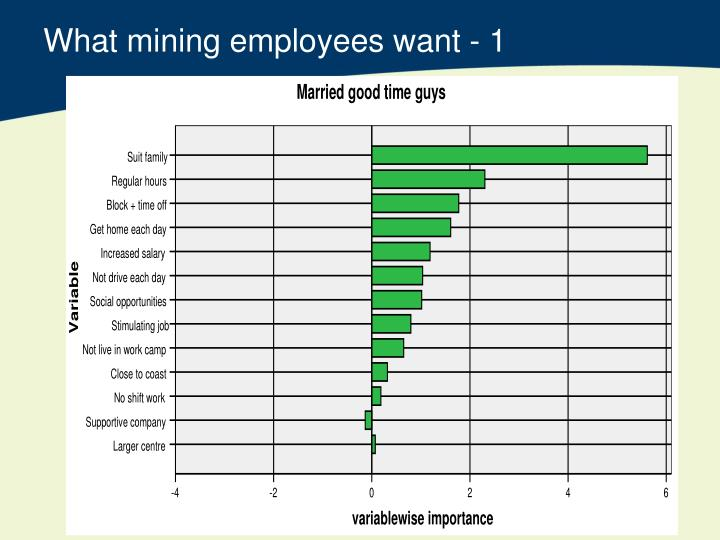 What mining employees want - 1