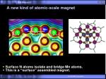 a new kind of atomic scale magnet