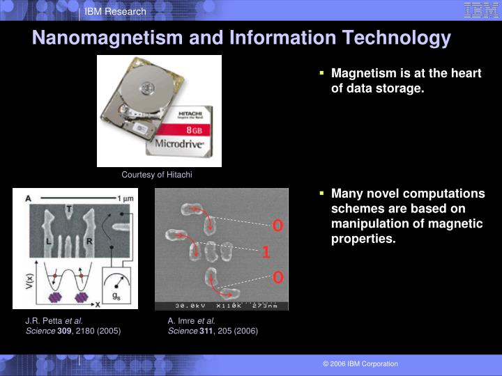 Nanomagnetism and information technology