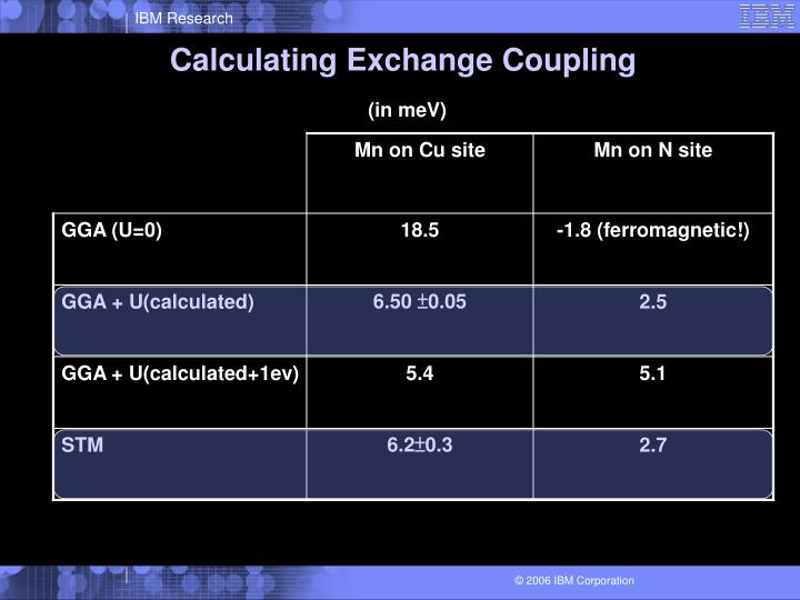 Calculating Exchange Coupling
