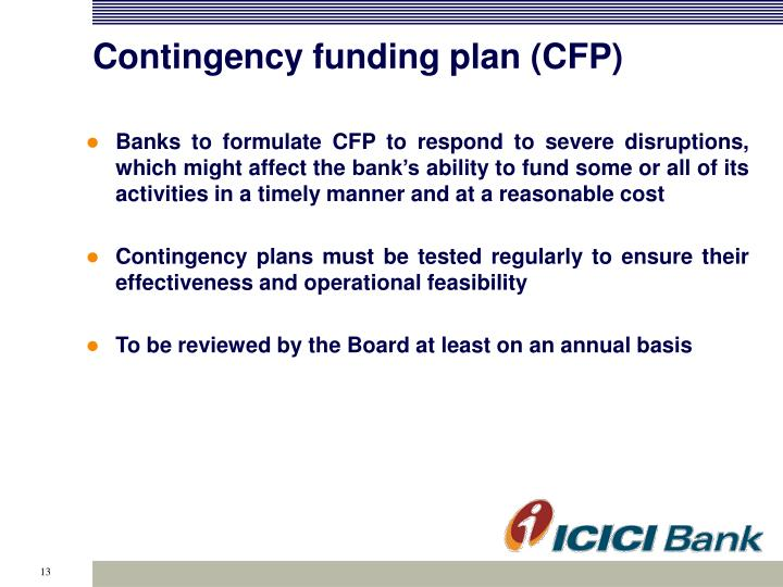 Contingency funding plan (CFP)
