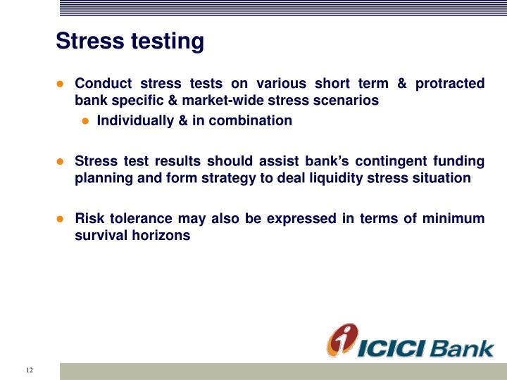 Stress testing