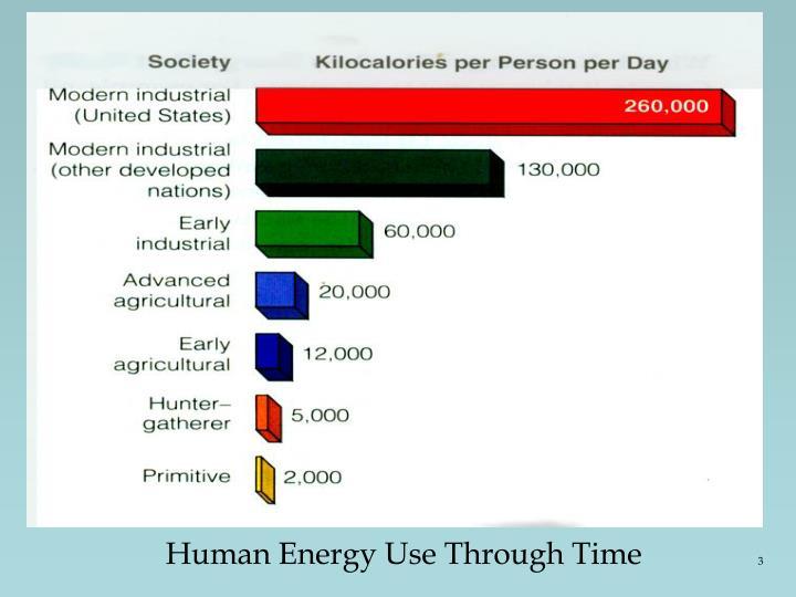 Human Energy Use Through Time