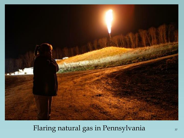 Flaring natural gas in Pennsylvania