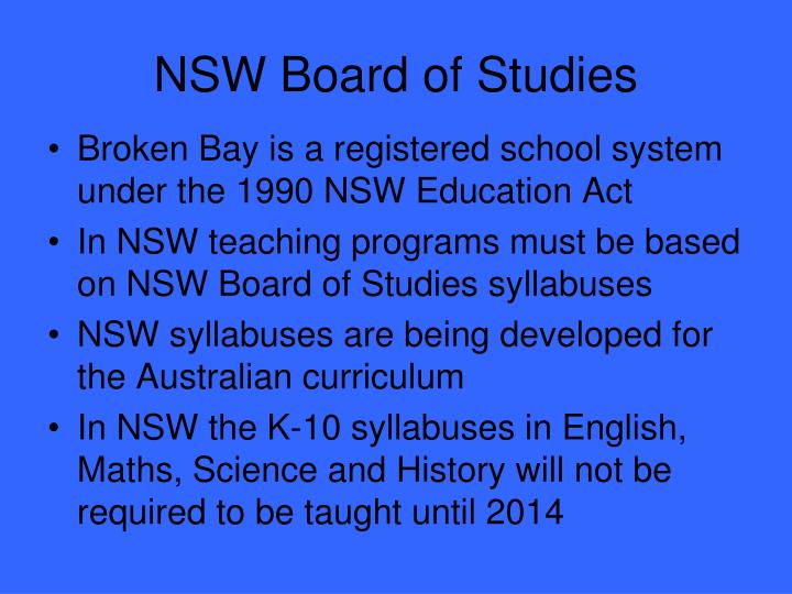 NSW Board of Studies
