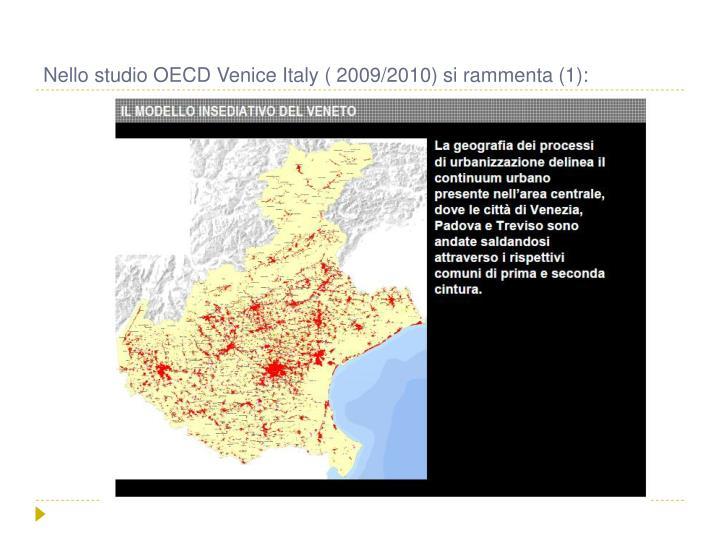 Nello studio OECD Venice Italy ( 2009/2010) si rammenta (1):