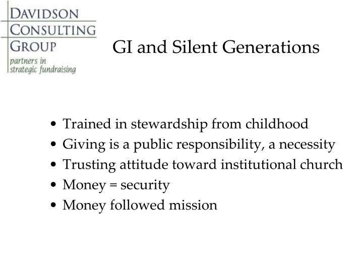 GI and Silent Generations