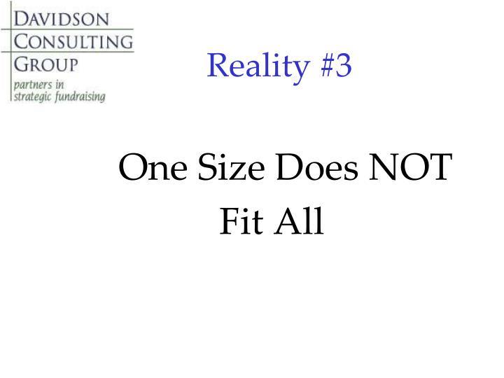 Reality #3