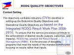 rodg quality objectives7