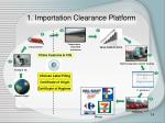 1 importation clearance platform
