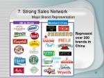 7 strong sales network