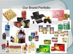 our brand portfolio