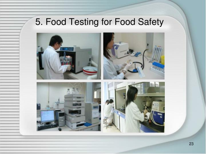 5. Food Testing for Food Safety