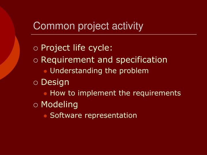 Common project activity