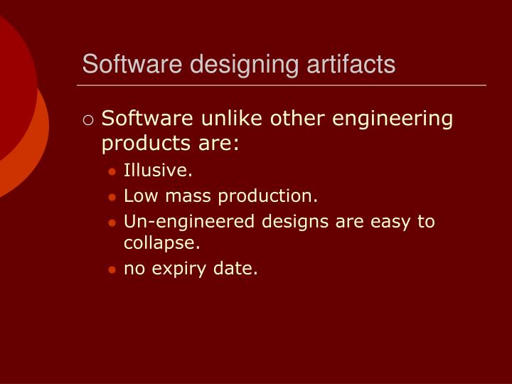 Software designing artifacts