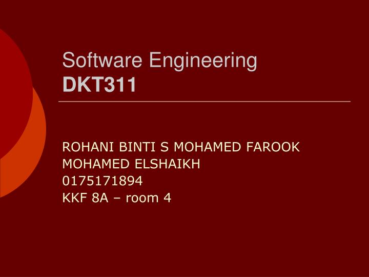 Software engineering dkt311