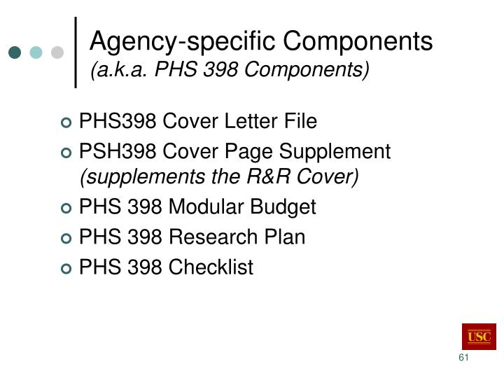 Agency-specific Components