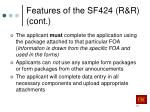 features of the sf424 r r cont1