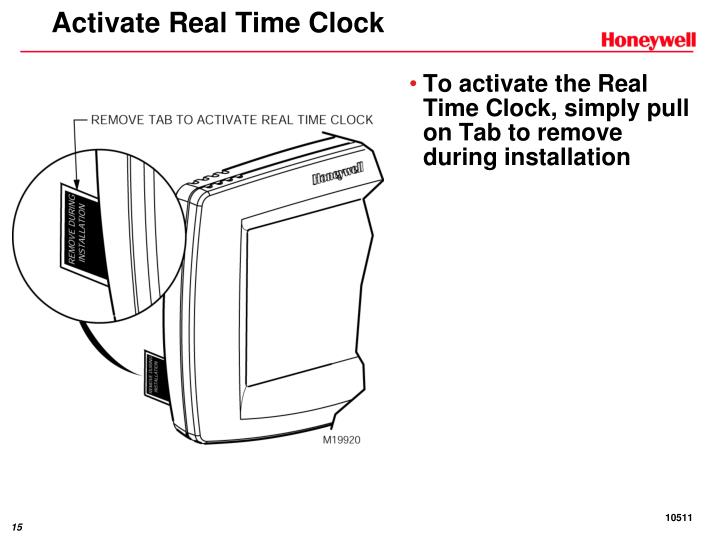 Activate Real Time Clock