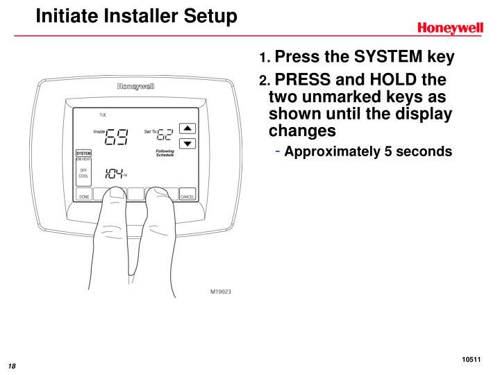 Initiate Installer Setup