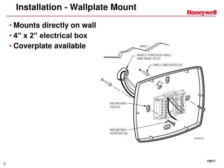 Installation - Wallplate Mount