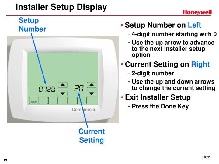 Installer Setup Display